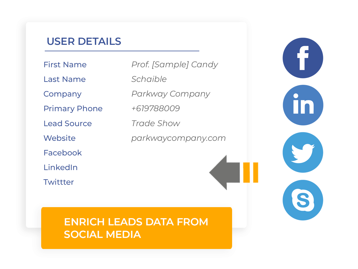 Enrich Leads Data from Social Media