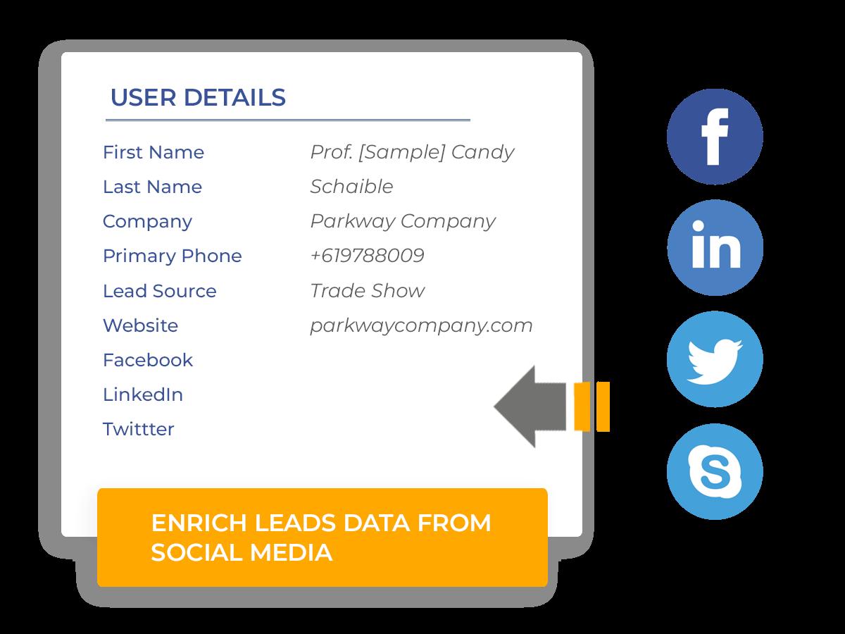 Enrich Leads Data from Social Media