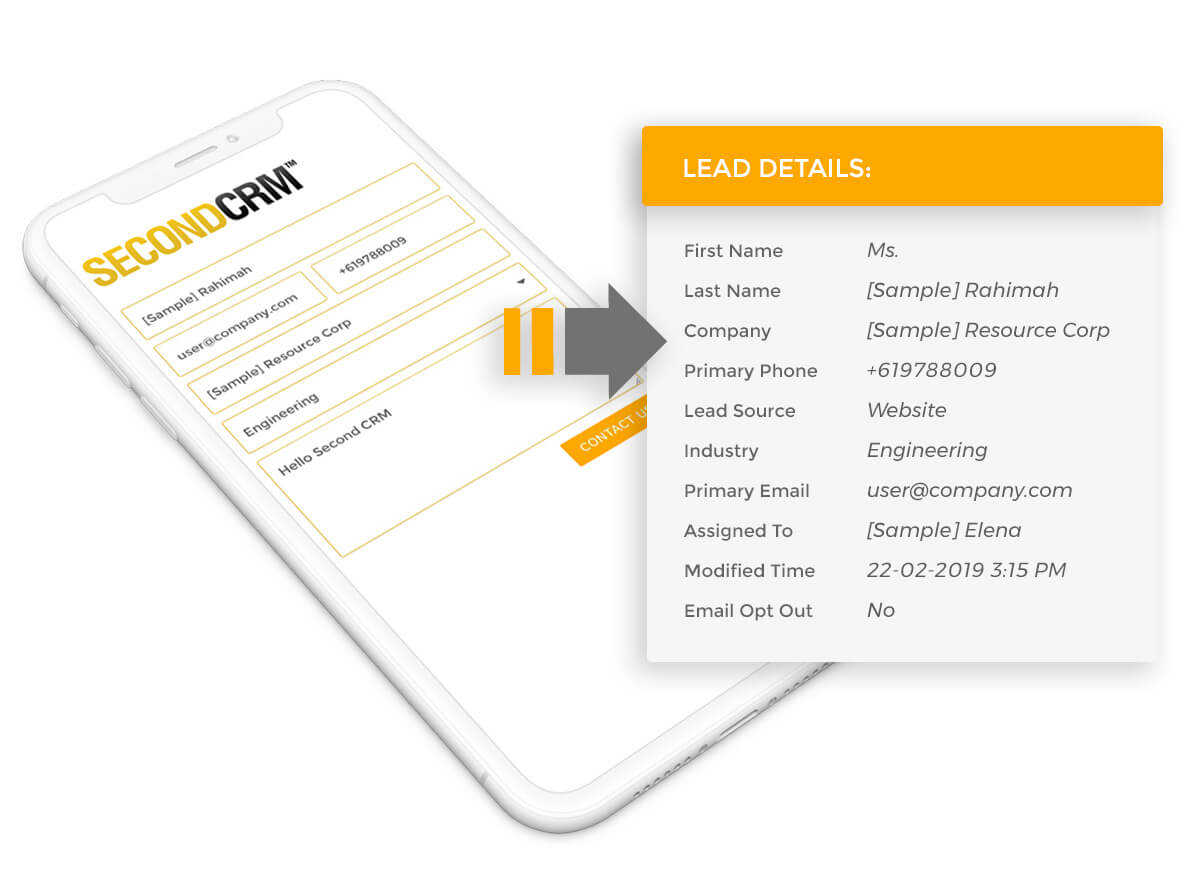 Capture leads from landing page