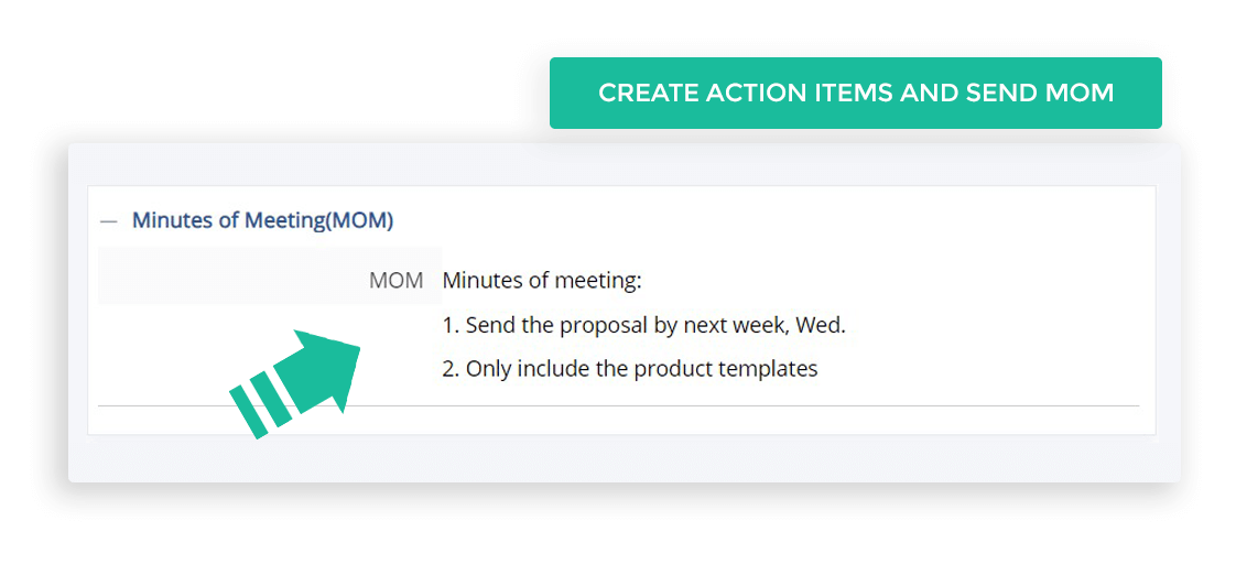 Create Action Items and Send MOM