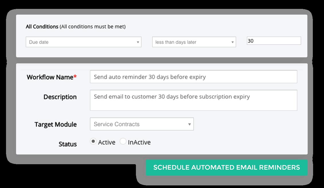 Reminder for recurring subscription renewal