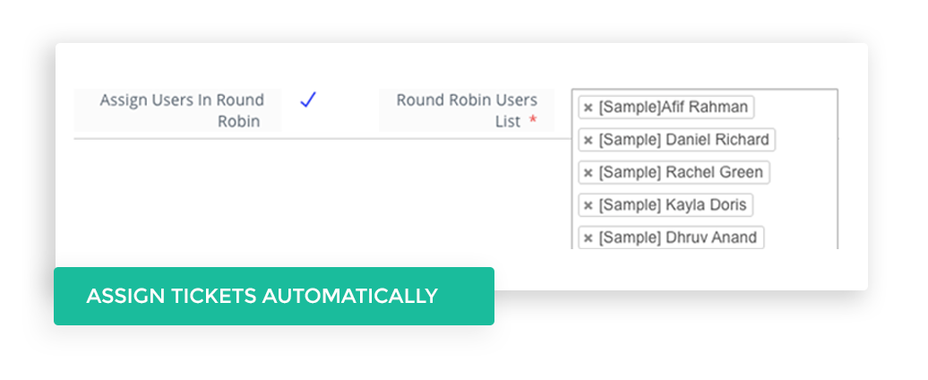 Assign Tickets automatically to agent