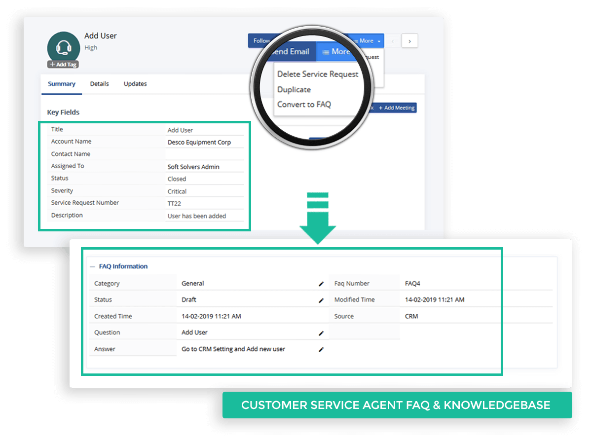 Customer Service Agent FAQ and Knowledgebase