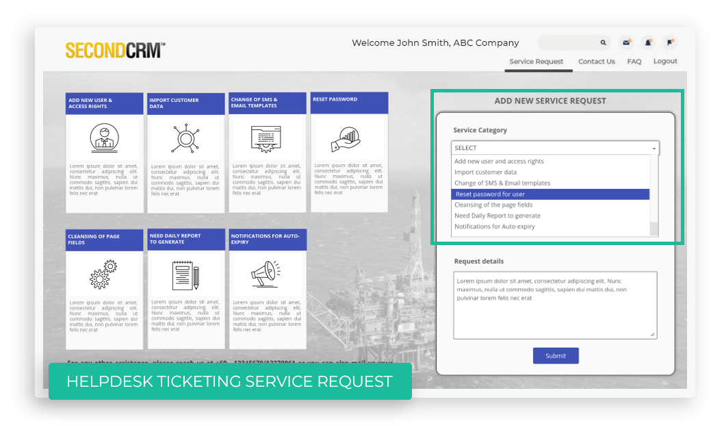 Helpdesk Ticketing Service Request