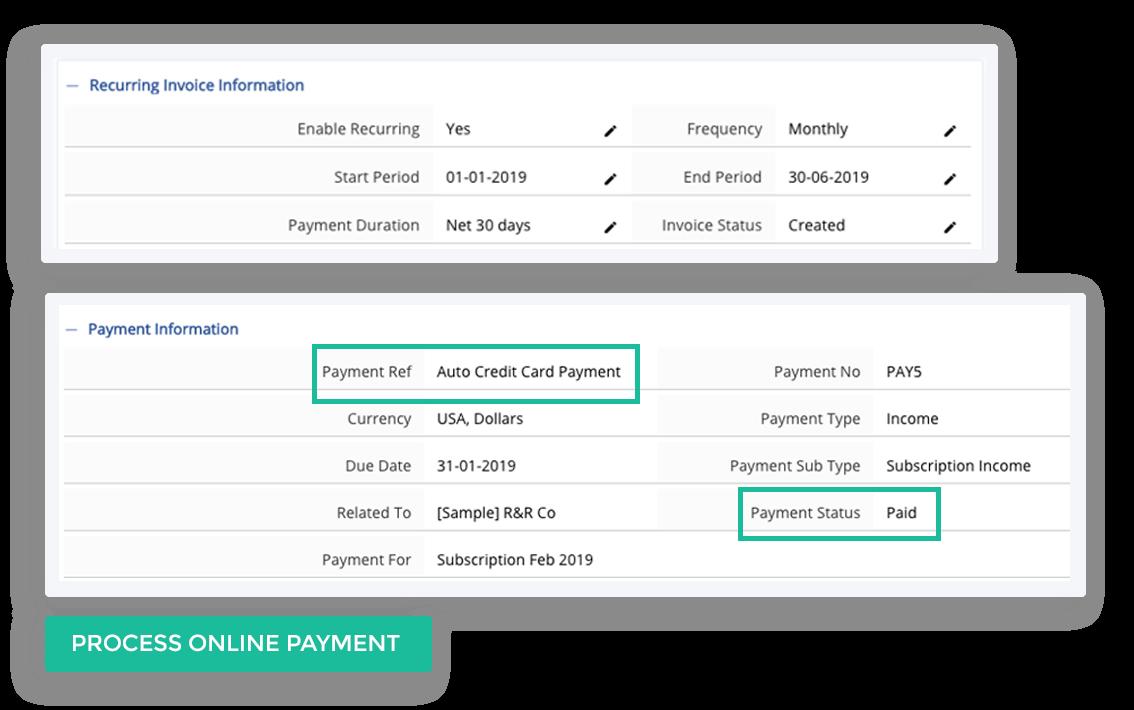 Process Online Payment