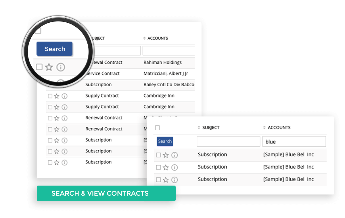 Search and view Contract anytime