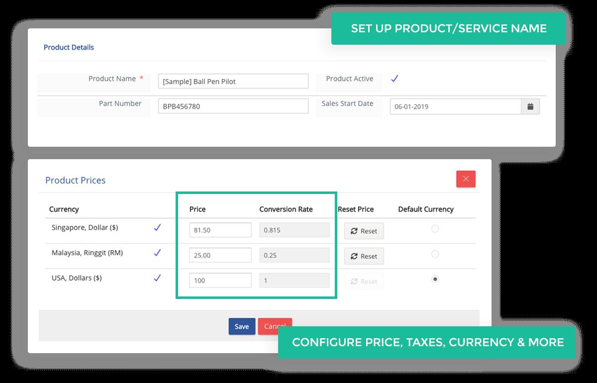 Set Up Product & Service