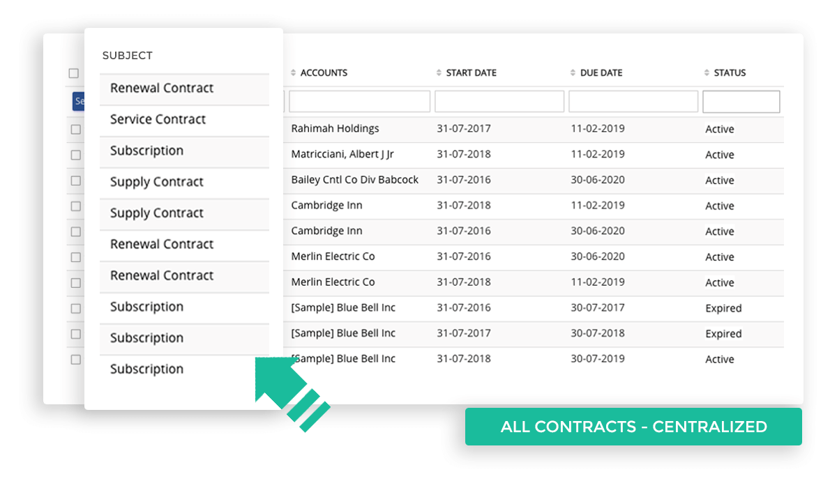 Store all your contracts centrally