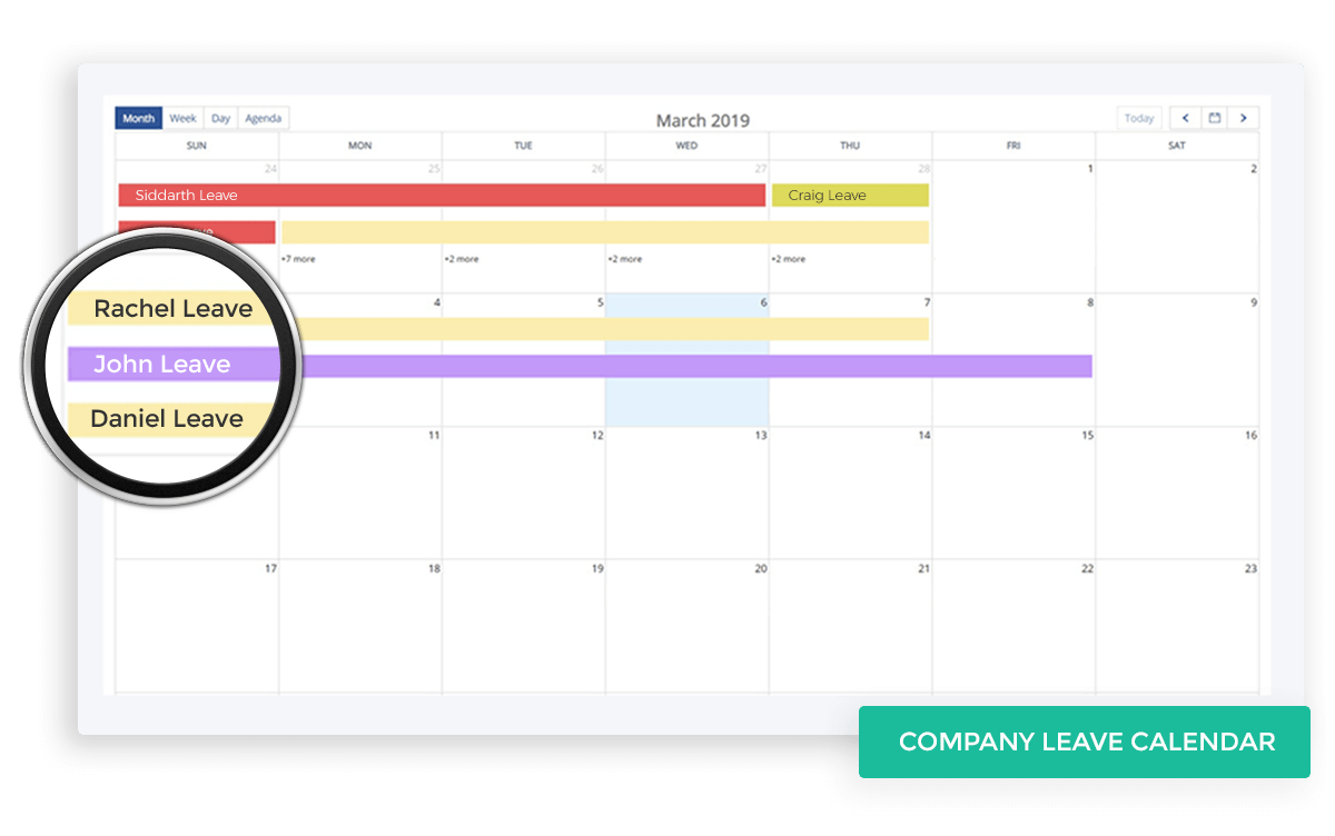 Company Leave Calendar
